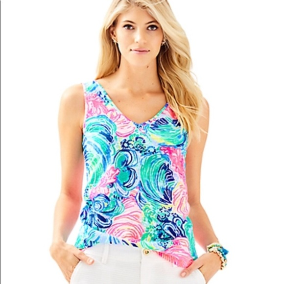 f354176501 Lilly Pulitzer Tops | Gigi Tank Top Xl | Poshmark